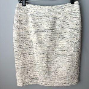 Ann Taylor Tweed Pencil Skirt Size 4